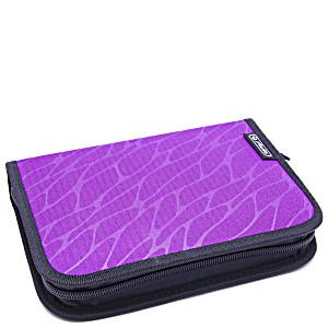 Пенал Херлиц WILD PRINT с наполнением 19 предметов цвет Фиолетовый